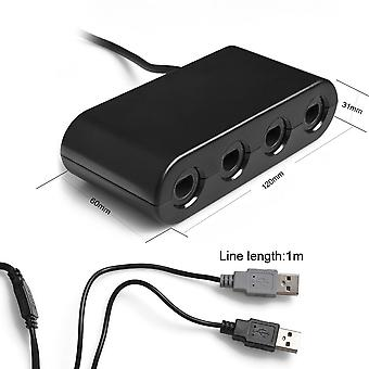 Kabalo GameCube GC / WaveBird to Wii U & PC USB Controller Adapter Converter, Black