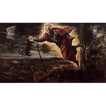 Creation of the Animals,Tintoretto,80x40cm