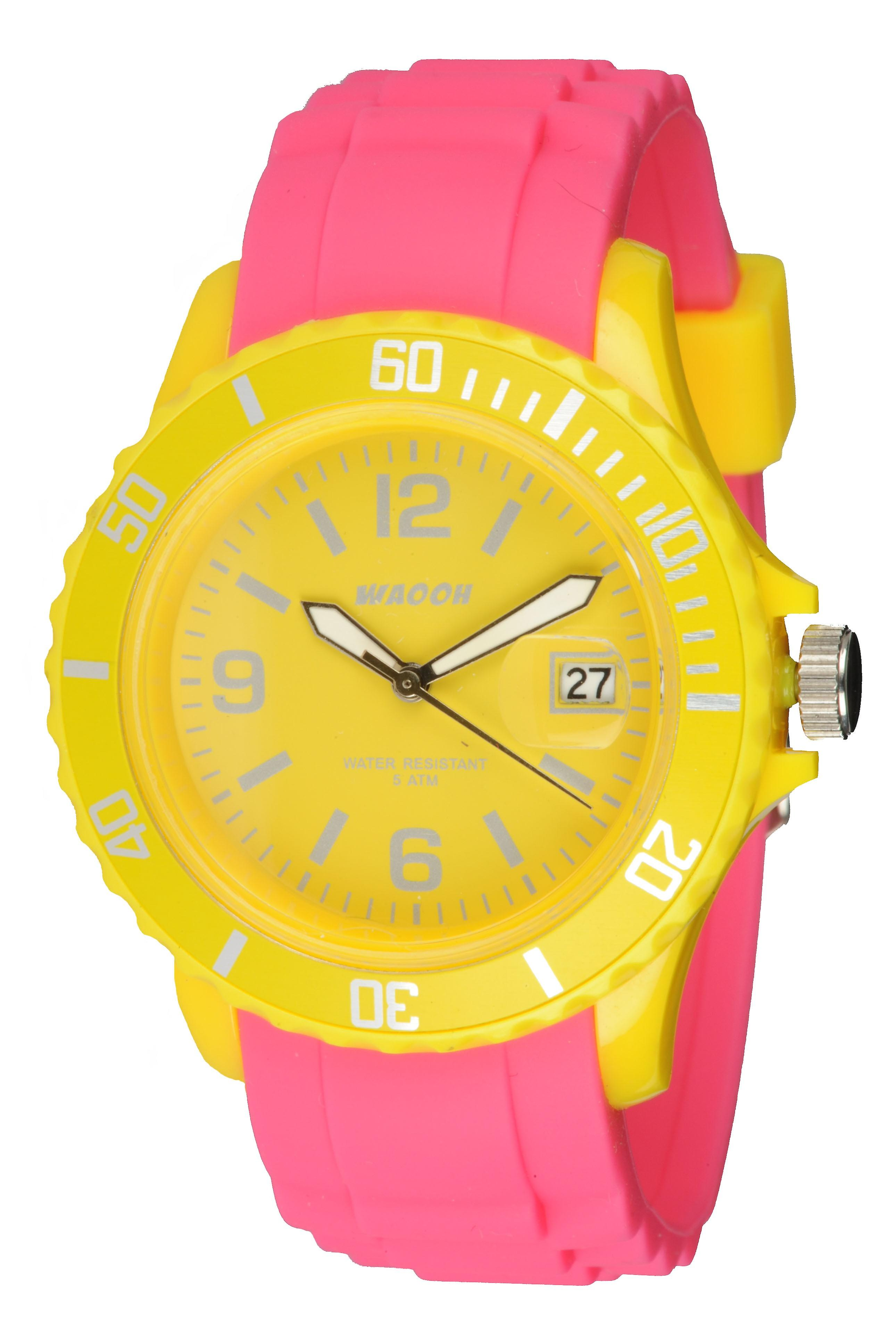 Waooh - Monaco34 Watch - Two Tone & Yellow