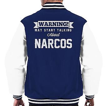 ADVERTENCIA puede empezar a hablar de Narcos hombres Varsity Jacket
