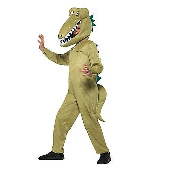 Roald Dahl Deluxe Enormous Crocodile Costume,Licensed Fancy Dress, Age 4-6