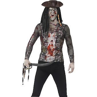 Zombie pirata t-shirt, grandes
