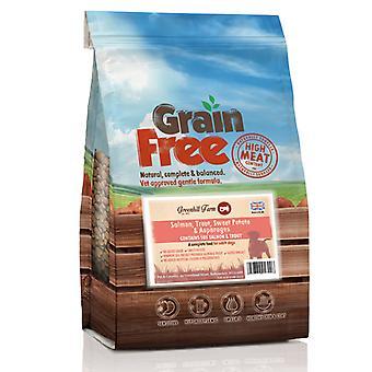 GHF korn gratis laks, ørret, Swtpot & asparges