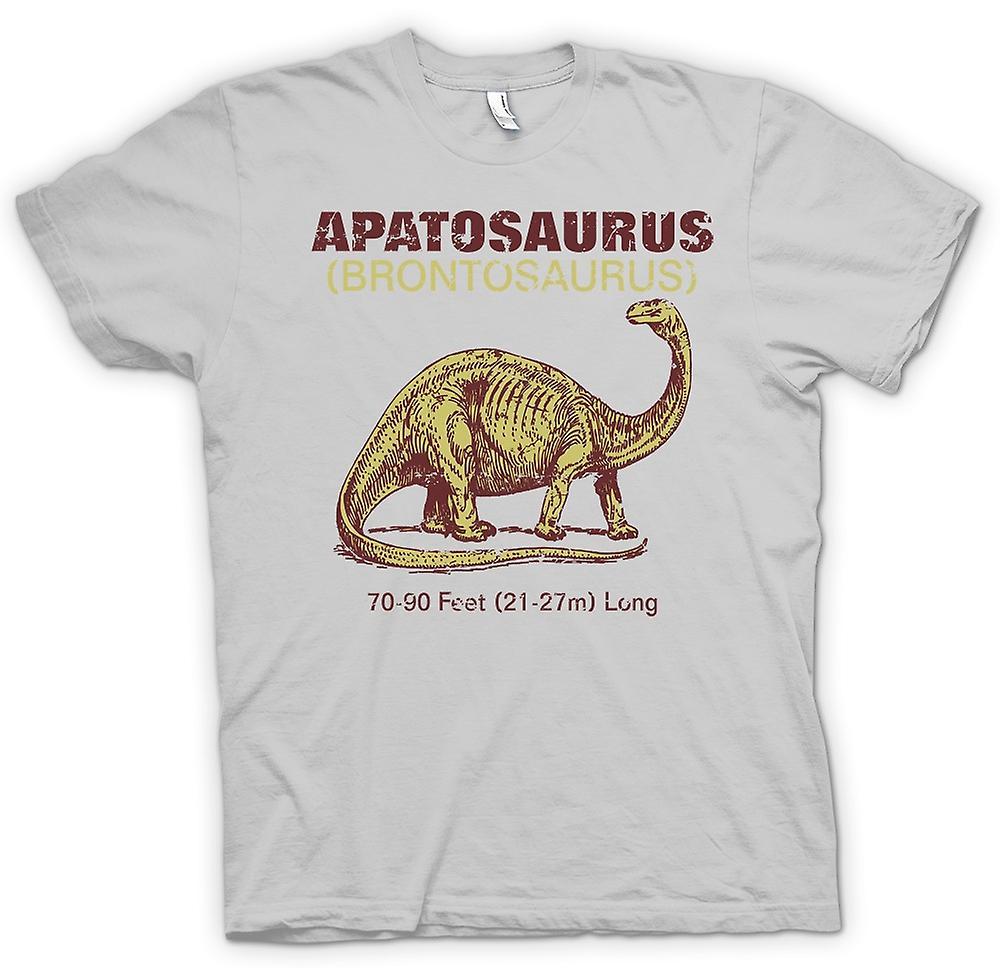 Mens t-shirt-Apatosaurus Brontosaurus Cool Dinousaur Design