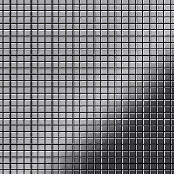 Mosaico de metal sólido Acero inoxidable ALLOY Glomesh-S-S-M