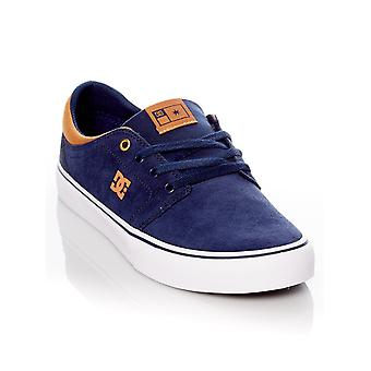 DC Navy-White Trase S Shoe