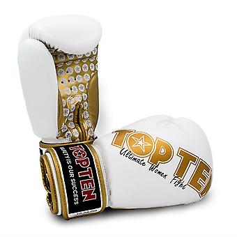 Top Ten Womens Boxing Gloves White/Gold