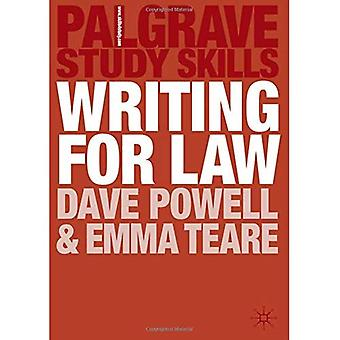 Schrijven voor de wet