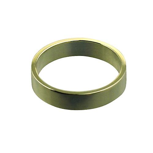 9ct Gold 4mm plain Flat Wedding Ring