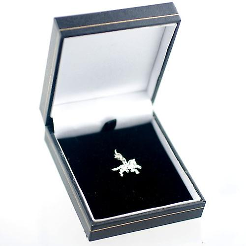 Silver 20x17mm Fair Ground Carousel Horse Charm on a lobster trigger
