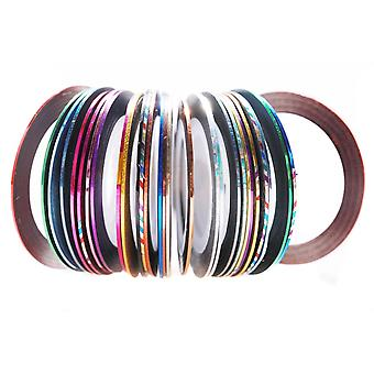 12 Rolls Mixed Colors Nail Art Striping Tape Line Decoration Sticker