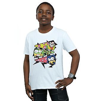 دي سي كوميكس الأولاد جبابرة في سن المراهقة تذهب القميص شريحة بيتزا