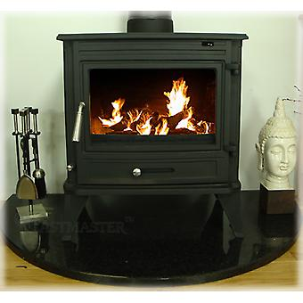 CASTMASTER Belvoir Cast Iron Wood Burner, Multifuel Stove with Back Boiler