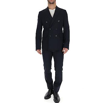 Dsquared2 Blue Wool Suit