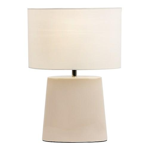 Endon IRIS-TLCR Iris Crackle Glaze Effect Table Lamp With Cream Fabric Shade