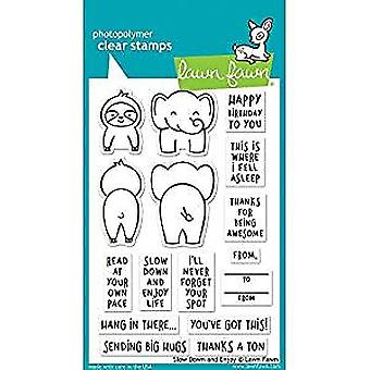 Lawn Fawn Slow Down and Enjoy Clear Stamps (LF1602)