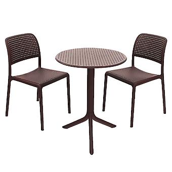 Nardi Coffee Step Bistro Set With Bistrot Chairs