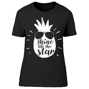 Shine like the Star ananas Tee vrouwen ' s-afbeelding door Shutterstock