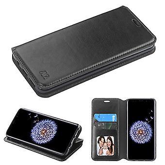 MYBAT Black MyJacket Wallet(w/ Tray)(561) for Galaxy S9 Plus