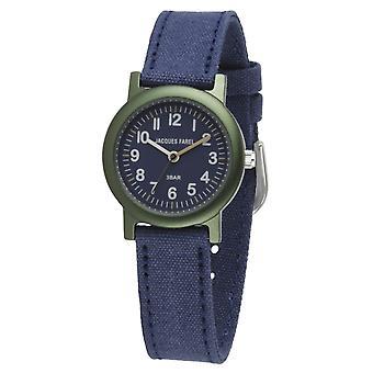 JACQUES FAREL Öko Kinder-Armbanduhr Analog Quarz Jungen ORG 0304 blau