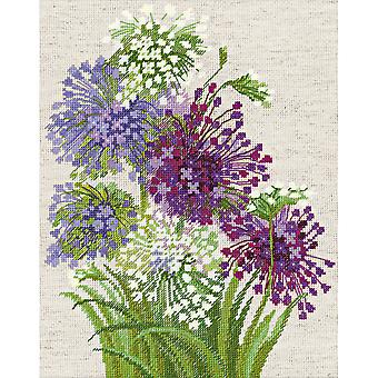 Allium Counted Cross Stitch Kit-9.5