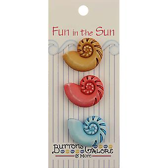 Fun In The Sun Buttons Nautilus Shells Fn 121