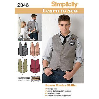 Simplicity Men Boy Tops Vests 34 36 38 40 42 U02346aa