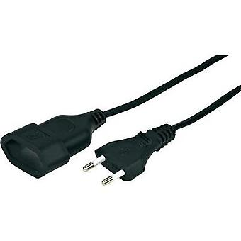 Current Extension cable [ Europlug - Euro connector] Black 5 m Hama 00108819
