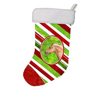 Hest Candy Cane Holiday Christmas Christmas Stocking SB3134-CS