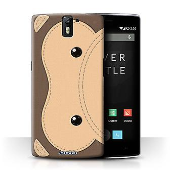 STUFF4 Case/Cover voor OnePlus One/aap/dier Stitch Effect
