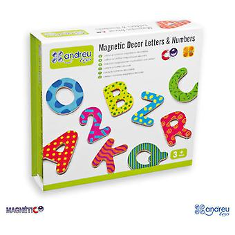 Andreu Toys Decorated Magnetic Letters And Numbers - 75 Pieces