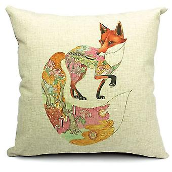 Wellindal Fox Cotton Cushion Cover (Decoratie , Textiel , Kussens , Kussens)
