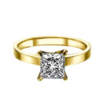 1.7 Carat H SI2 Diamond Engagement Ring 14K Yellow Gold Solitaire 4 Prongs Classic