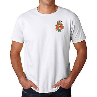 HMS Severn broderad logo - officiell Royal Navy ringspunnen T Shirt