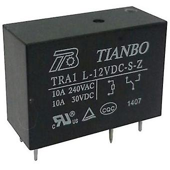 PCB relays 12 Vdc 12 A 1 change-over Tianbo Electronics TRA1 L-12VDC-S-Z 1 pc(s)