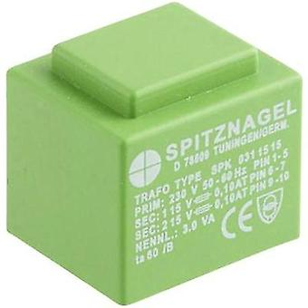 Spitznagel SPK 03106 - PCB Mount Transformer 6V