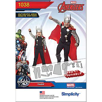 SIMPLICITY THOR COSTUME FOR MEN AND BOYS-3 - 8 / S - XL US1038A