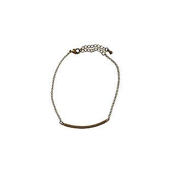 Gold-colored minimalist statement bracelet
