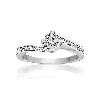 0.5 Carats T.W Diamonds Mounted Engagement Ring (0.5 Cttw, G-H Color, SI1-SI2 Clarity)