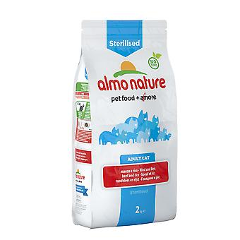 Almo Nature Holistic Sterilised Cat With Beef And Rice 2kg