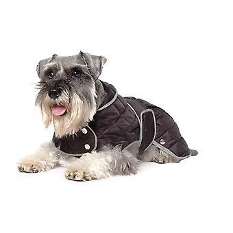 Muddy Paws Diamond Quilt Coat Black Medium