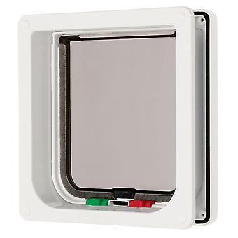 4 måde låsning Flap & Liner hvid 16.5x17.4cm