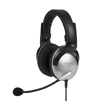 KOSS Headset SB49 On-Ear Silver/Svart