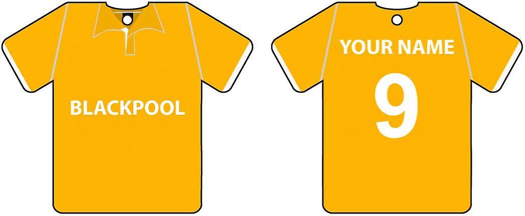 Personalised Blackpool Football Shirt Car Air Freshener