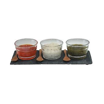 Dipping Set Slate Ideal for Serving Appetizers Parties