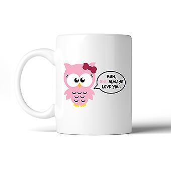 Mutter Eule dich immer lieben Keramik Kaffeebecher Mütter Tag besonderes Geschenk