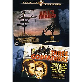 Hell's Heroes/Three Godfathers [DVD] USA import
