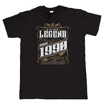 Vectorbomb, leyenda desde 1990 para hombre divertido T camisa (S a 5XL)