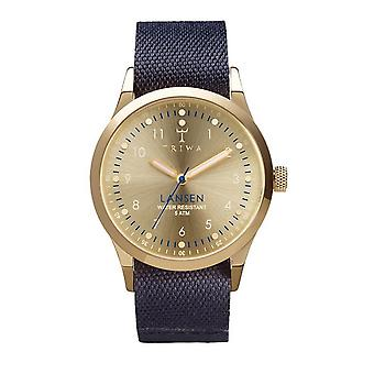 Triwa Unisex Watch wristwatch LAST108-MO060713 gold Lansen leather