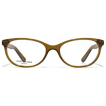 Kurt Geiger Amelia Soft Oval Acetate Glasses In Tobacco